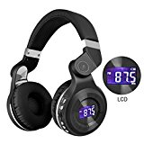 GOODLOGO T2S Bluetooth Headphones Wireless Headset Foldable Without Cable Earphone Perfect Sound Quality for Tablets, SmartPhones Computers,Laptops,TV's,All Head Sizes (Black)