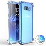 Galaxy S8 Case, Comsoon [Drop Cushion] [Crystal Clear] Soft PC TPU Bumper Slim Protective Case Cover with Raised Bezels for Samsung Galaxy S8 2017 (Clear)