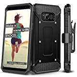 Galaxy S8 Case, Evocel [Explorer Series] Premium Full Body Case [Slim Profile][Rugged Holster] WITHOUT screen protector For Galaxy S8 (SM-G950)(2017 Release), Black