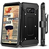 Galaxy S8 Plus Case, Evocel [Explorer Series] Premium Full Body Case [Slim Profile][Rugged Holster] WITHOUT screen protector For Galaxy S8+ (SM-G955)(2017 Release), Black