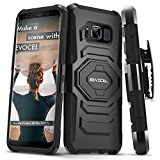 Galaxy S8 Plus Case, Evocel [New Generation] Rugged Holster Dual Layer Case [Kickstand][Belt Swivel Clip] For Galaxy S8+ (2017) (SM-G955), Black (EVO-SAMG955-XX01)