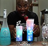 Genuine Glo Drinks Automatic LED Ice Cubes Color Changing - Designed in USA, BPA Free, Quality and Safety Guaranteed - 4 PACK