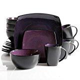Gibson Home 16 Piece Soho Lounge Dinnerware Set, Purple