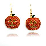 Gift Box Drop Earrings Halloween Earrings Christmas Earrings Jewelry Decent Gift Box (Pumpkin)