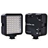 Godox LED 64 Continuous On Camera LED Panel light,Portable Dimmable Camera Camcorder Led Panel Video Lighting for DSLR Camera Conon,Nikon,Sony,Panasonic,Olypus,Fuji etc,Neewer Godox Led lighting (View amazon detail page)