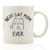 Got Me Tipsy Best Cat Mom Ever Funny Coffee Mug - Birthday Gift Idea for Women, Mother's Day Gift for Mom - 11-Ounce, Ceramic