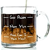 Got Me Tipsy Go Away Funny Coffee Mug - Birthday Gift Idea for Him or Her, Mother's Day Gift and Father's Day Gift - 13-Ounce, Glass
