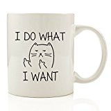 Got Me Tipsy I Do What I Want Cat Funny Coffee Mug - Birthday Gift Idea for Him or Her, Mother's Day Gift and Father's Day Gift - 11-Ounce, Ceramic
