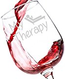 Got Me Tipsy My Therapy Funny Wine Glass - Birthday Gift Idea for Her, Mother's Day Gift - 13-Ounce, Glass