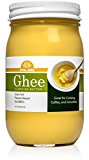 Grass Fed Organic Ghee Clarified Butter From Grass-fed Cows Paleo Ayurvedic Gluten-Free NON-GMO - Made in USA (Glass Jar)