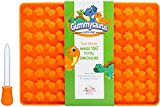 Gummysaurus Dinosaur-Shaped Gummy Bear Mold (2-Pack) Giant, Non-Stick Silicone Tray | Creates 160 Sweet Snacks | Triceratops, T-Rex, Stegosaurus, Brontosaurus | Kid Friendly