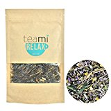 HERBAL CHAMOMILE RELAX Tea by TeaMi Blends - Best for Night Time Before Sleep, Stress Relief, & to Calm the Mind with 100% All-Natural Valerian Root, Lavender, and Peppermint. Caffeine Free!