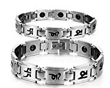 Health Care Bio Magnetic Bracelet | Titanium Magnetic Bracelet for Men and Women | Magnetic Bracelet for Pain Relief, Therapy, Balance and Energy | Silver Color(Men)