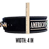 Heavy Duty Suede Leather Power Lifting Belt by American Guerrilla (Large)