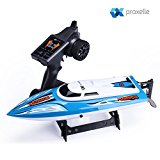 High Speed Remote Control Boat - Super fast and easy to use - Built-in Water Cooling System and Auto Safe Mode Equipped w/ 2.4GHz RC Boat Technology.