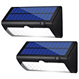Housmile Solar Lights 38 LED Wall Light Outdoor Security Lighting Nightlight with Motion Sensor Detector for Garden Back Door Step Stair Fence Deck Yard Driveway, Pack of 2