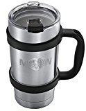 Insulated Tumbler Mug Travel Cup - 20 ounces Premium Thermik Set w/ Anti Slip Handle and Leak Proof Lid - Vacuum Double Wall Stainless Steel Cup Keeps Coffee - Tea Cold / Hot Drink