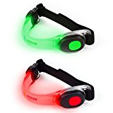 Iotrevor Fitness Reflective Running Armband (pack of 2) red and green