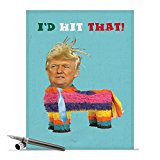 J1952BDG Jumbo Funny Birthday Card: Trump Pinata With Envelope (Extra Large Version: 8.5'' x 11'')