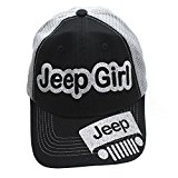 Jeep Girl Glittering Trucker Style Cap Hat Black Grey Silver