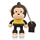 KOOTION Flash Memory Drive USB 2.0 Pen Stick Monkey Shape Nice Gift For Children (8G, Brown)