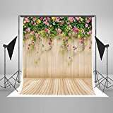 Kate 5x6.5feet Photography Backdrop Pale Yellow Flowers Butterfly Wall Background for children backdrops for photographers J03559A