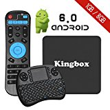 Kingbox K1 Android 6.0 TV BOX with Mini Keyboard,4K/S905X/64Bit/1+8GB/2.4G Wifi/100M android tv box Support Full HD /H.265