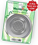 Kitchen Sink Strainer & Drain Cover 2PCS Stainless Steel - Prevent Clogging - Wide Rim 4.5