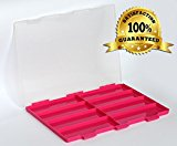 LE PAON Embroidery box Needlecraft Organizer Plastic Sewing Box Seperate Storage Box For Sewing Kit and finsh hooks and screws (Box 1)