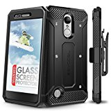LG Aristo Case, Evocel [Explorer Series] with FREE [LG Aristo Glass Screen Protector][Full Screen Coverage] Premium Full Body Case [Slim Profile][Belt Clip] For LG Aristo / LG K4 (2017), Black