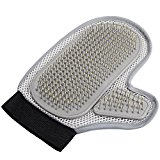 LNE Pet Brush Glove For Dogs And Grooming Glove For Cats Gentle Grooming ,Bathing ,Massaging