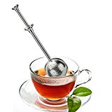LOYAL FOLLOWERS Tea Infuser - Stainless Steel Tea Ball- Single Cup- Long Handle Tea Infuser - Perfect Strainer for Loose Leaf Tea (1-Pack)