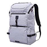 LUXUR Waterproof 30L Laptop Backpack for School Business Travel Grey