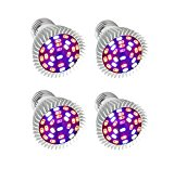 Led Grow light Bulbs Full Spectrum,Taopu 28W E27 Plant Growing Lights for Indoor Plants Hydroponic Greenhouse Organic -4PCS