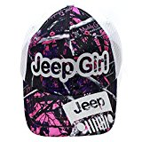 Licensed Muddy Girl Jeep Girl Glittering Trucker Style Cap Hat