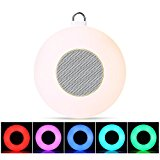 LightMe Portable LED Colorful Music Lighting Speaker, Multi-functional Smart Color Changing Lights Wall Mounted Atmosphere Lamp with Bluetooth, TF Card, FM & AUX Mode for Home Outdoor Camping Tent