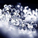 LightsEtc 15.7 Feet 20 LED White Solar Blossom String Lights for Home, Holiday Decoration