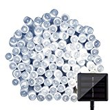 LightsEtc Solar 39 Feet 100 LED String Lights for Gardens Homes ,Holiday Party Decoration (White)