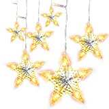 LightsEtc String Curtain Light 280 LED Fairy Star Window Lights for Decoration (Warm White)