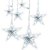 LightsEtc String Curtain Light 280 LED Fairy Star Window Lights for Decoration Wedding (White)