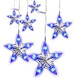 LightsEtc String Curtain Light 280 LED Fairy Star Window Lights for Decoration Wedding (Blue)