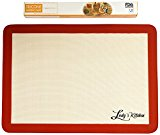 Ludy's Kitchen Silicone Baking Mat - Professional Grade Cookie Sheet Liner - Replaces Parchment Paper - Great Gift Ideas - Non-Stick, Durable, & Reusable Silicone Cookie Sheets