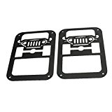 MAIKER Jeep Wrangler Accessories Jeep JK Tail Light Guards Protectors Covers for Jeep Wrangler 2007-2016 2Pcs