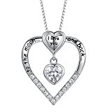 MLYSA 'I Love You To The Moon and Back' Girl Heart Pendant Necklace 18