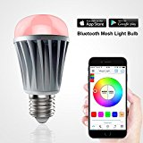 MagicLight Mesh - Bluetooth LED Light Bulb - Control up to 30,000 Smart Bulbs by Smartphone or Tablet - Dimmable Multicolored Color Changing Projection Lights - Perfect for Home Lighting Replacement