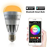 MagicLight Pro Bluetooth Smart LED Light Bulb - Smartphone Controlled Sunrise Wake Up LED Lights - Dimmable Multicolored Color Changing Party Lights Bulb - 10 Watts (80Watts Equivalent)