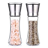 Magicook Salt & Pepper Grinder Set, Pepper Mill and Salt Mill with Stainless Steel Cap and Adjustable Coarseness