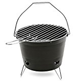 Magicook Stainless steel Stoves BBQ Grill Portable BBQ Barrel Outdoor Barbecue Grills(Black)