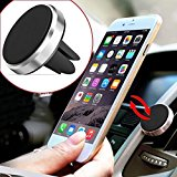 Magnetic Phone holder for Car air vent for Smartphones and Mini Tablets (Blue)