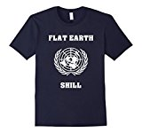 Men's Flat Earth Shill Funny T-Shirt About Our Earth Medium Navy